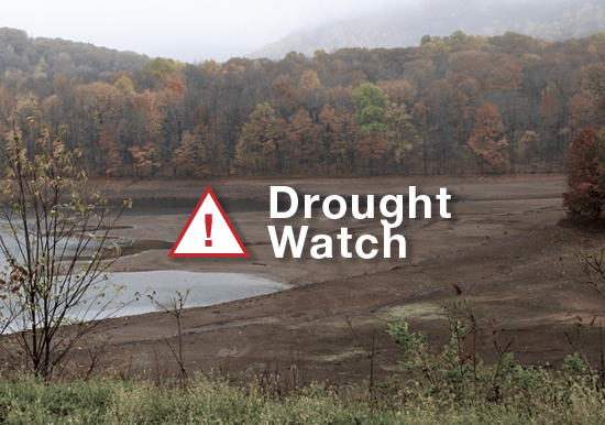 drought watch low reservoir level