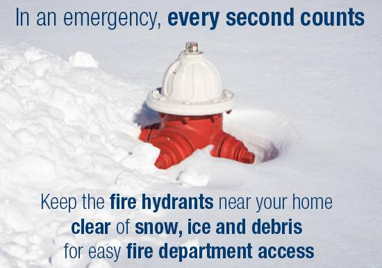 Keep Hydrants Clear of Snow